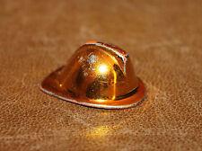 Playmobil vie quotidienne chapeau casque de pompier doré vintage