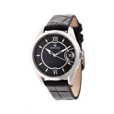 Empress Messalina MOP Dial Black Leather Women's Watch with Date EM2401