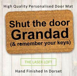 Grandad Custom Coir Door Mat 40cm x 60cm can be personalised