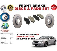 FOR CHRYSLER SEBRING JS SALOON 07-10 FRONT BRAKE DISCS SET + BRAKE PADS KIT