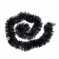 Thick Chunky Luxury Christmas Tree Tinsel Decoration - Black