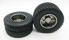 2p 1/14 Rear aluminum wheels rim Tires for RC Tamiya 1/14 Tractor Truck Titanium