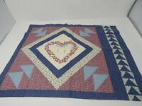 Vintage Panel Pillow Fabric Quilt Design w/ Heart