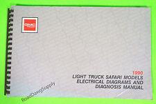 1990 GMC Safari Van Electrical Wiring Diagrams Service Manual SLE SLT SLX