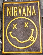 Nirvana Stoned Smiley Face Patch-3 3/4 x 2 3/4 inch-
