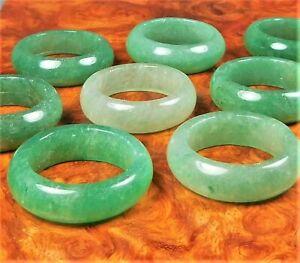 Aventurine Ring Natural Green Gemstone Band GG20 Healing Crystals and Stones