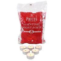 50 Tea Night Lights Candles 8 Hour Long Burn Unscented