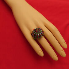 Heidi Daus Ring Marquee Madness Red Swarovski Crystal Dome Size 10 Signed 956r