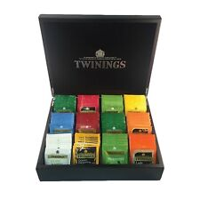 Lot TWININGS LUCIDO Tè Nero Scatola Display Cerniere in Ottone & 120 Misti wraped TEABAGS