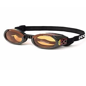 Doggles Ils Flame / Orange Moyen Lunette De / Soleil Eye Protection pour Chiens