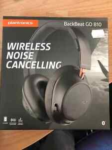Plantronics Backbeat Go 810 Wireless Noise Cancelling Over-Ear Headphones BLACK
