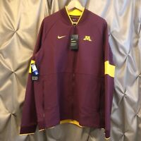 Nike NCAA On Field Minnesota Golden Gophers Therma Jacket NWT Large AR9215-669