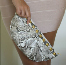 Stark bei Harrods Natural Python Arc Clutch