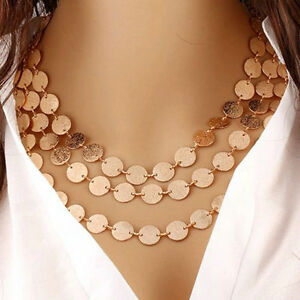 One Lady Gold Coin Chain Pendant Necklace SUPER SALE !
