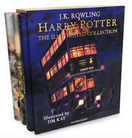 NEW Harry Potter Hardback Illustrated Collection Book 1-3 Set JK Rowling Jim Kay