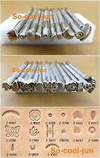 20pc Leather Craft Stamping DIY Tool Set Kit For Leather Practical Silver Colour
