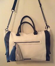 NEW Steve Madden Designer Bone Cream Satchel Crossbody Tote Bag