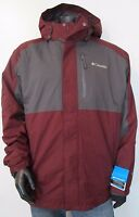 Mens 2X-3X-4X Columbia Rural Mountain Interchange Hooded Insulated Jacket Berry