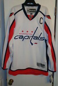 Reebok Premier Ovechkin NHL Jersey Washington Capitals White Alt XL NWT