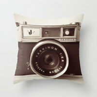 Cushion Pillow Cover Vintage Camera 18'*18' Home Decor UK stock