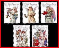 GIBRALTAR 2005 CHRISTMAS  SC#1029-33 MNH CV$8.50 RELIGION ANGELS