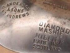 RARE  Antique D.ANDERSON & SONS  DIAMOND BACK MASHIE NIBLICK  W/ DOT FACE