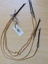 A 4 Strand Gold Chain Multi Grip Hair Chain