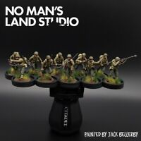 Pro Painted 28mm Perry Us 1st Infantry Division Squad (10 Men) Bolt Action...