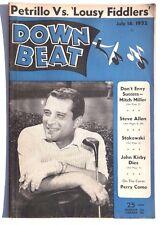Vtg July 16, 1952 DOWN BEAT Vol. 19 No. 14 (Perry Como) Music MAGAZINE