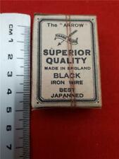 Rare Box of 24 'The Arrow Black Wire Hooks & Eyes' (No.7) Vintage haberdashery!