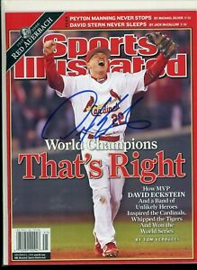 DAVID ECKSTEIN ST LOUIS CARDINALS	NO LABEL SPORTS ILLUSTRATED signed autographed