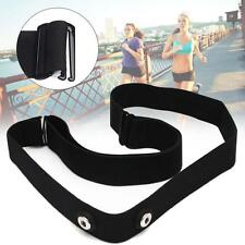 Black Soft Sport Heart Rate Monitor Strap Chest belt for Polar Wahoo Garmin FT