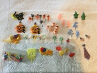 Lot Mixed vintage Cake Toppers Picks Holiday Birthday Halloween Easter Disney