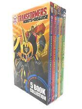 Transformers Robots In Disguise 5 Books Box Set Collection, Decepticon Attack...