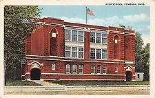 C6/ Pomeroy Ohio Postcard c1910 High School Building Meigs County