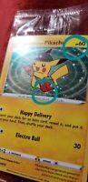 Special Delivery Pikachu Double SWIRL Pokemon Card Holo Promo SWSH074