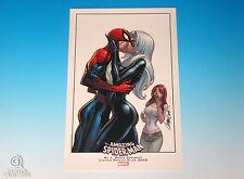 Amazing Spider-Man Limited Edition Print J. Scott Campbell Black Cat Mary Jane