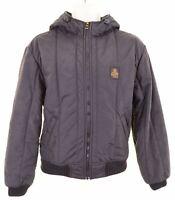 REFRIGIWEAR Mens Padded Jacket Size 38 Medium Black Nylon  IX03