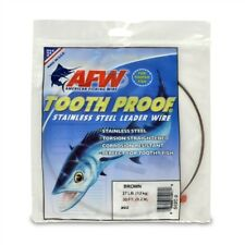 27lb AFW #02 TOOTH PROOF SINGLE STRAND STAINLESS STEEL LEADER FISHING WIRE TRACE