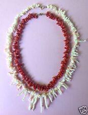La raccolta 2x collana di corallo bianco e rosso AST-CORALLO ART DECO GIOIELLI ~ 1925