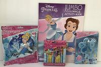 Disney Princess Cinderella Coloring Activity Book Crayon Puzzle Comb Gift Set