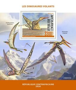 Central African Rep Flying Dinosaurs Stamps 2020 MNH Prehistoric Animals 1v S/S
