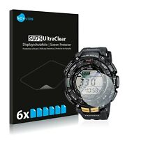 6x Savvies Screen Protector for Casio Pro Trek PRG-240-1ER Ultra Clear