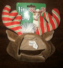 CAT ANTLERS / X Small Dog Reindeer HAT Headpiece PET One Size *BENEFITS RESCUE!
