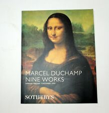 Sotheby's London Marcel Duchamp Nine Works 12/1999 Auction Catalog