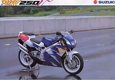 1993 SUZUKI RGV250P V-TWIN SPORTS ROAD BIKE 4 page Motorcycle Sales Brochure NOS