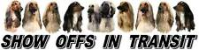 AFGHAN HOUND Show Off Dog Car Sticker By Starprint