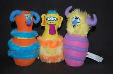 Replacement Bowling Pins lot 3 Melissa Doug Monster Plush Stuffed Toy