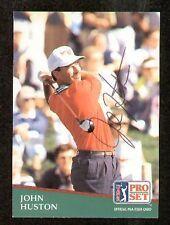 John Huston signed autograph 1991 Pro Set Golf No. 19