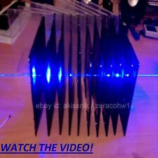 Blau Laserpointer Strahl Stern Pen+2x18350 Akkus+5xKopf+Ladegerät+Brille Box Set